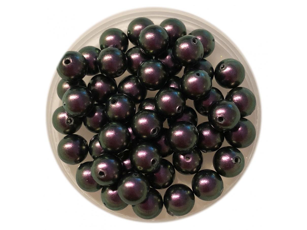 6mm Swarovski pearls Iridescent purple