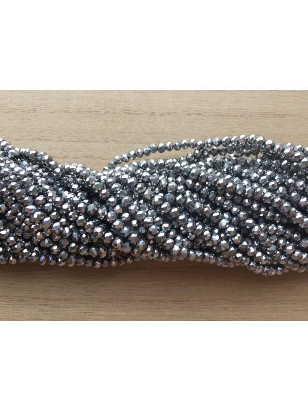 sølv glasperler
