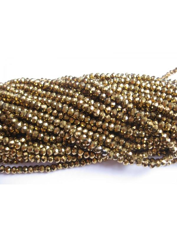 facetslebne guld glasperler