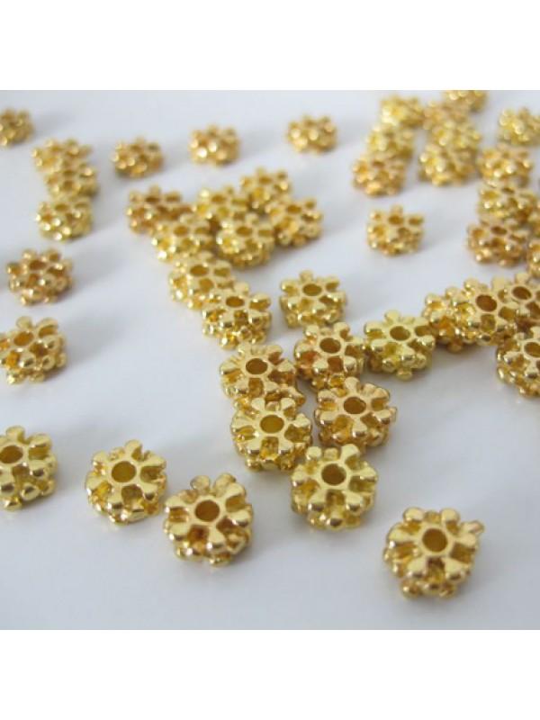 7mm forgyldte perler, 10 stk-3