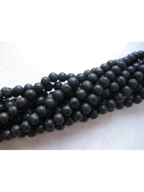8mm sort lava perler