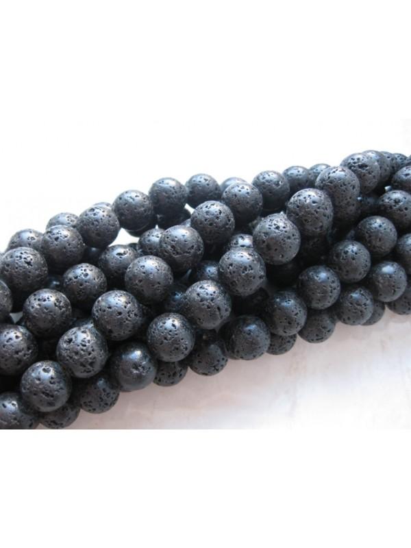 18mm sort lava perler
