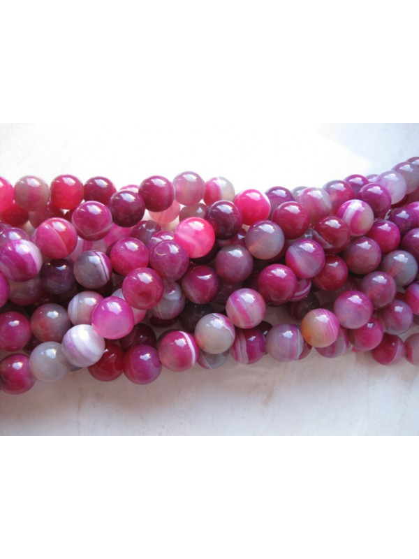 stribet agat 12mm perler