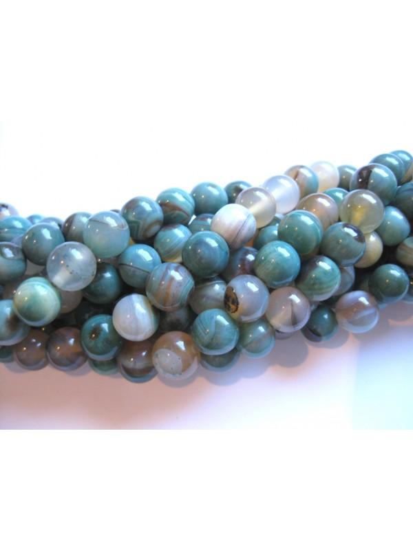 Agat, blå-grå rund 10mm-3