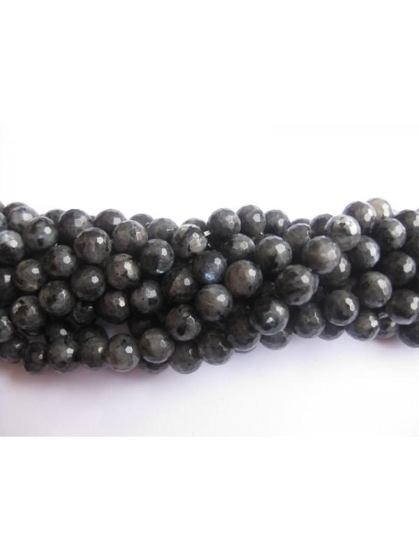 8mm facetslebne perler af larvikit