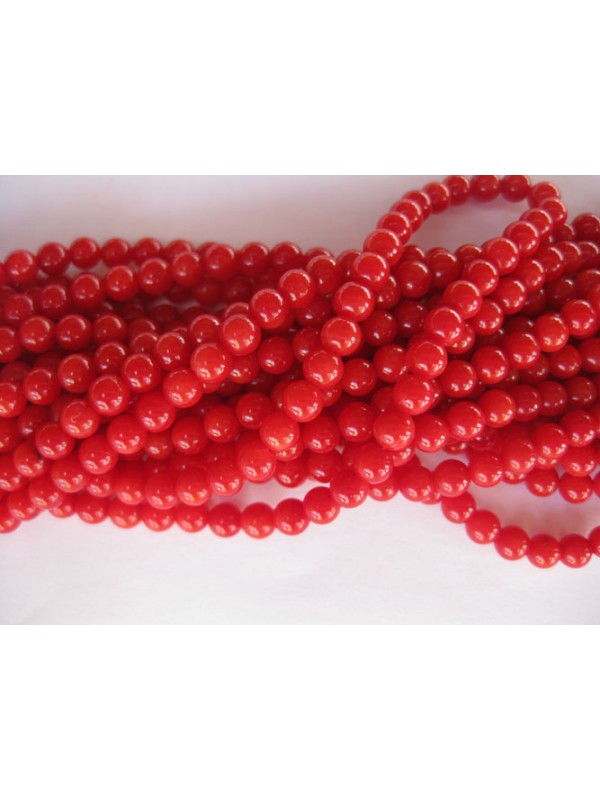 4mm rød koral