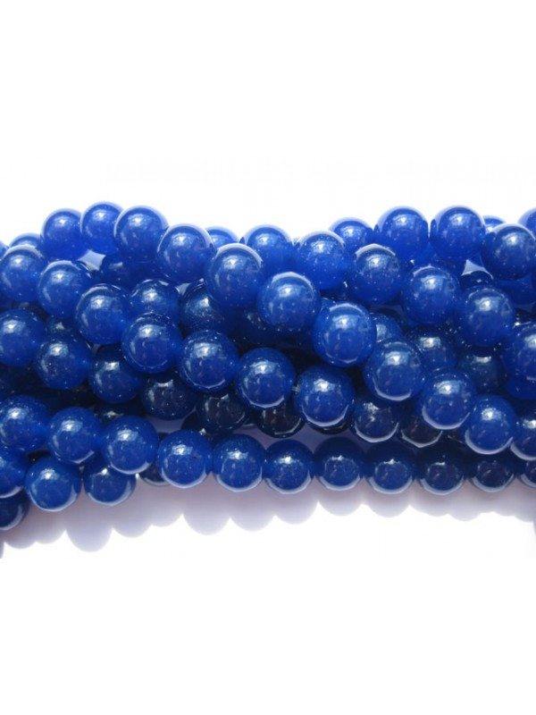 Farvet jade, lapis blå rund 10mm-3