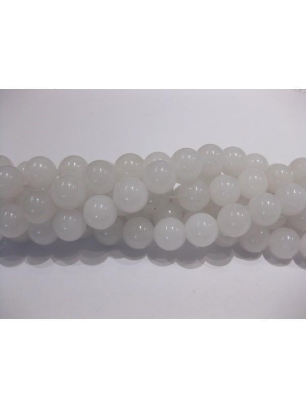 Farvet jade, hvid rund 10mm-3