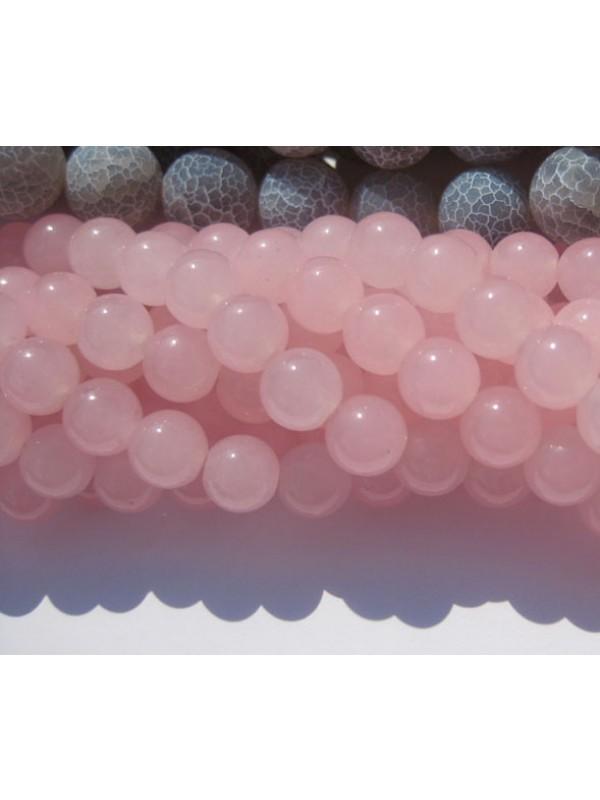 8mm lys pink jade perler