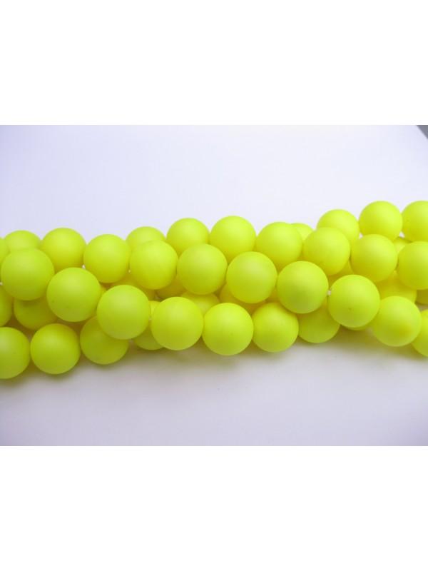 4mm neon gule perler