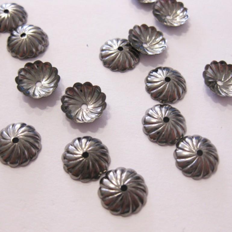 9mm gunmetal perleskåle, 20 stk-3