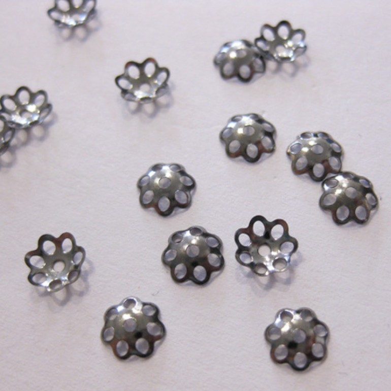 6mm gunmetal perleskåle, 100 stk-3