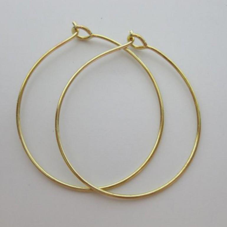 guld creoler øreringe