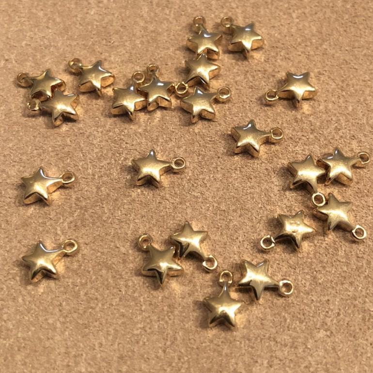 guld stjerne vedhæng