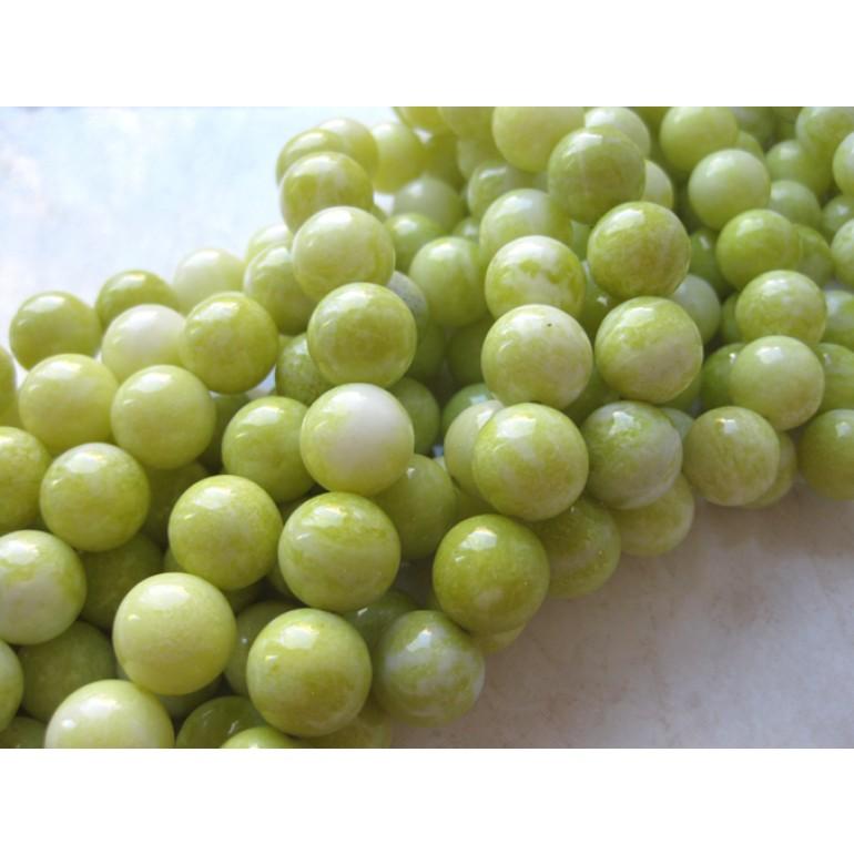 naturlig lemon jade perler