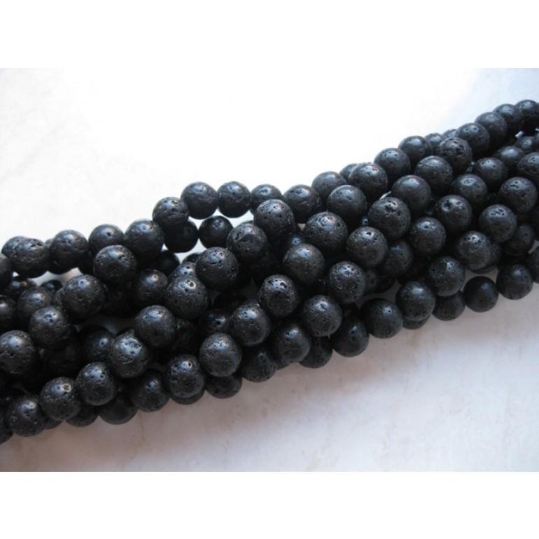 6mm perler af lavasten