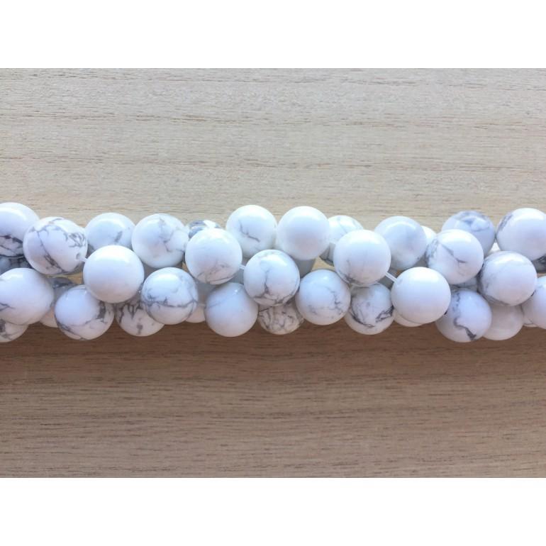 perler af hvid howlite