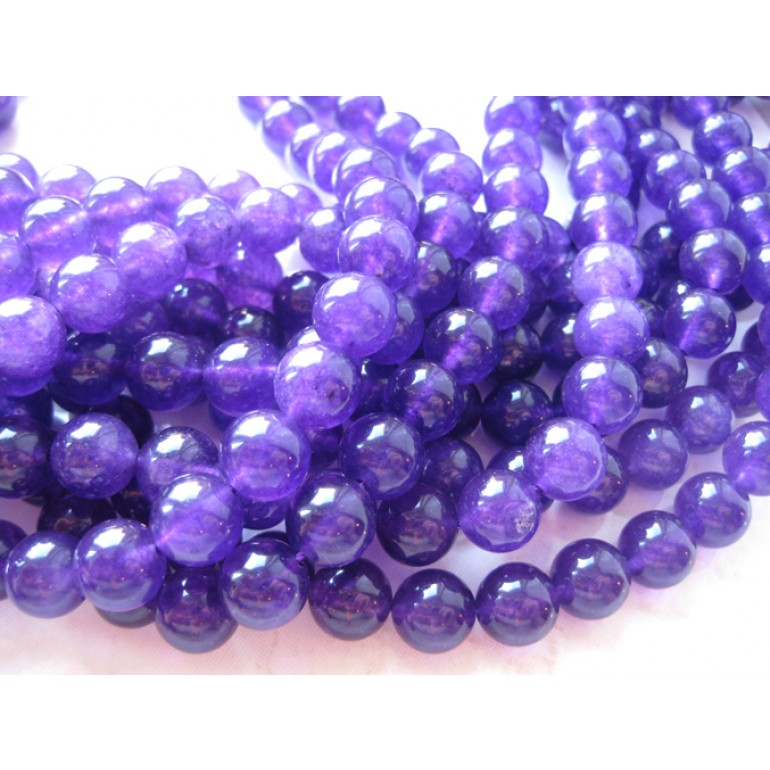 10mm perler af farvet lille jade