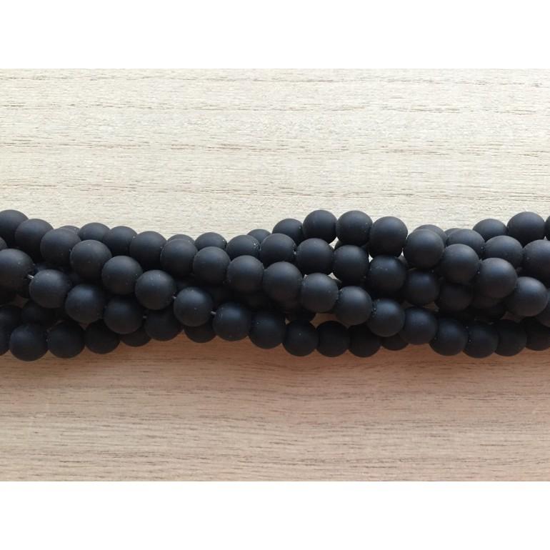 8mm matte sorte perler