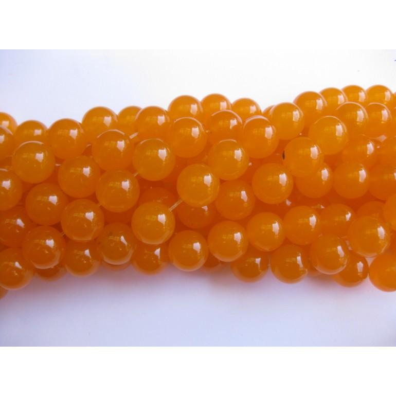 14mm orange jade