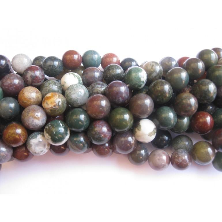 fansy jaspis 10mm runde perler