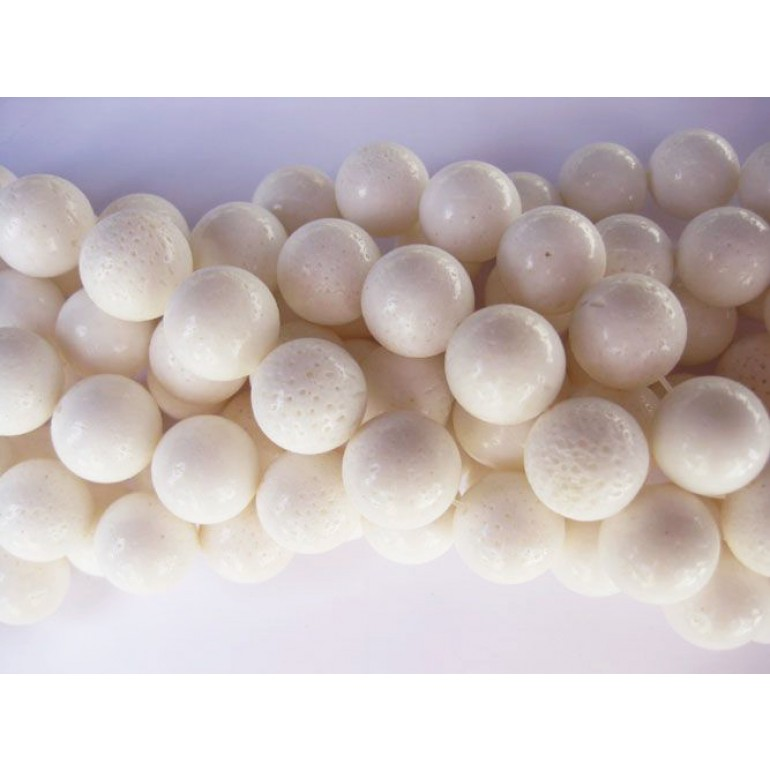Hvid svampekoral, rund 16mm-3