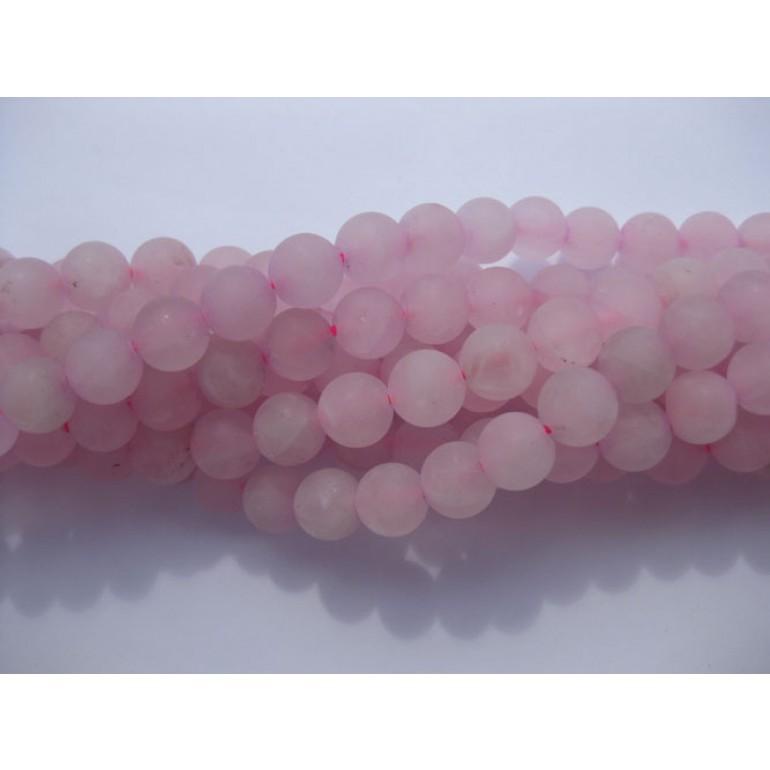 8mm frosted rosenkvarts