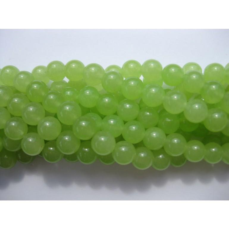 lime grønne jade perler