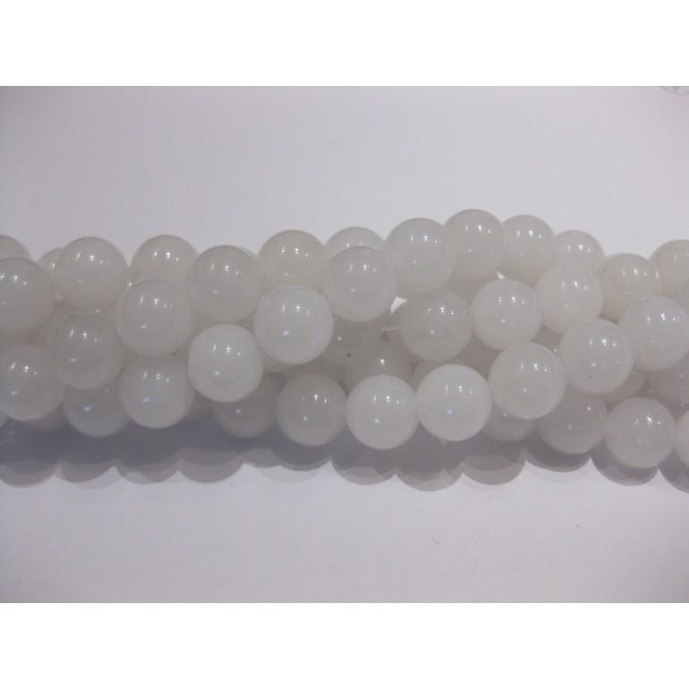 12mm hvide jade perler