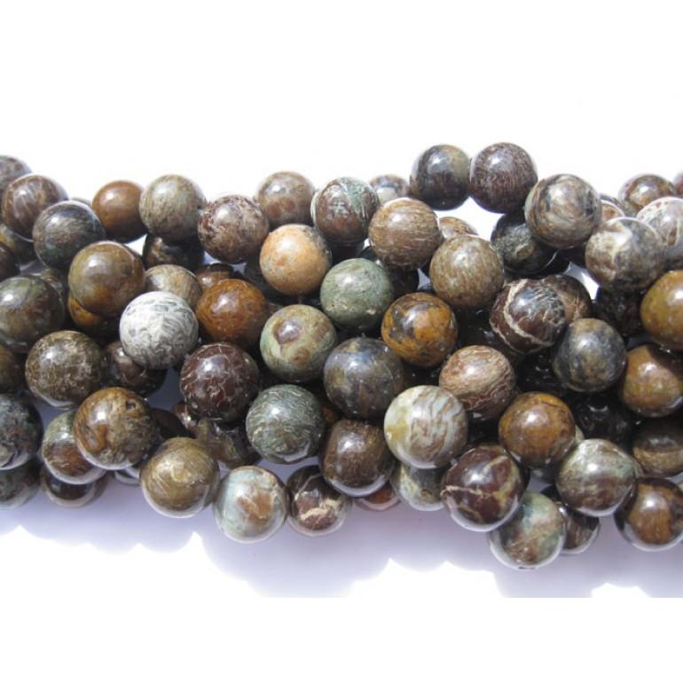10mm slangeskinds jaspis perler