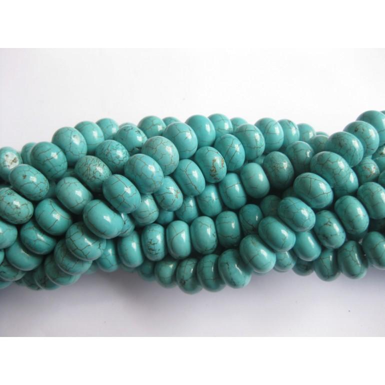 blå magnesit perler