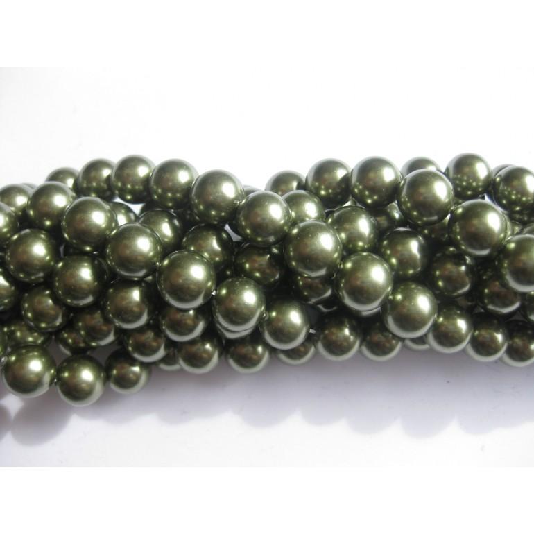 grønne shell perler