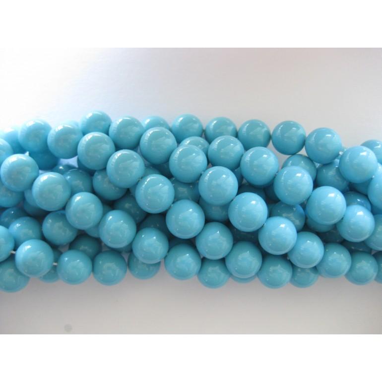 Shell pearl, turkis blå 10mm-3