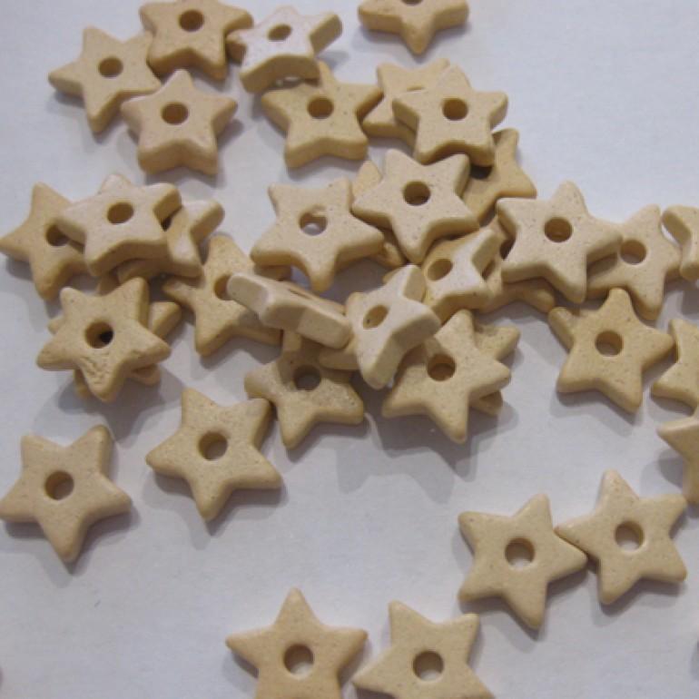 9mm keramikstjerne, creme-3
