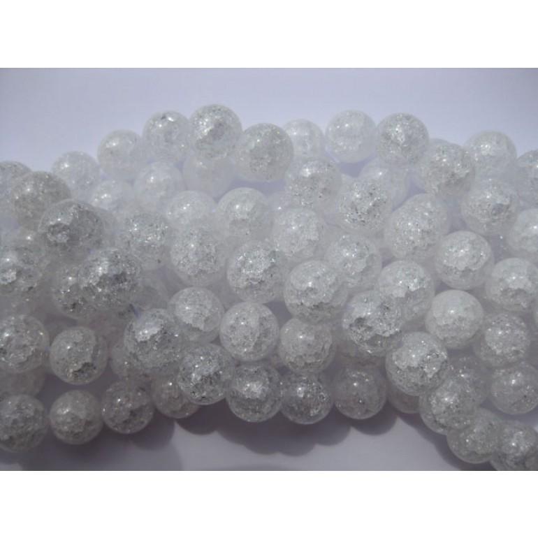 Krakkeleret krystal, rund 12mm-3
