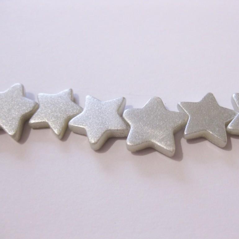 Sølvbelagte shell stjerner-30