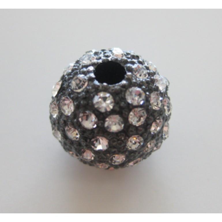 16mm sort kugle belagt med mange rhinsten-3