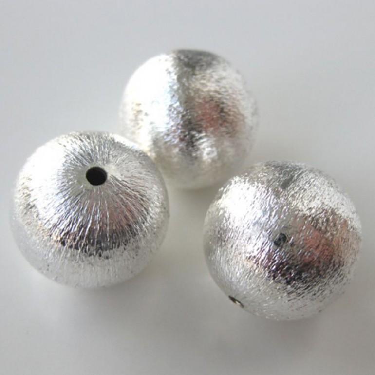 18mm forsølvet perle med satin finish-3