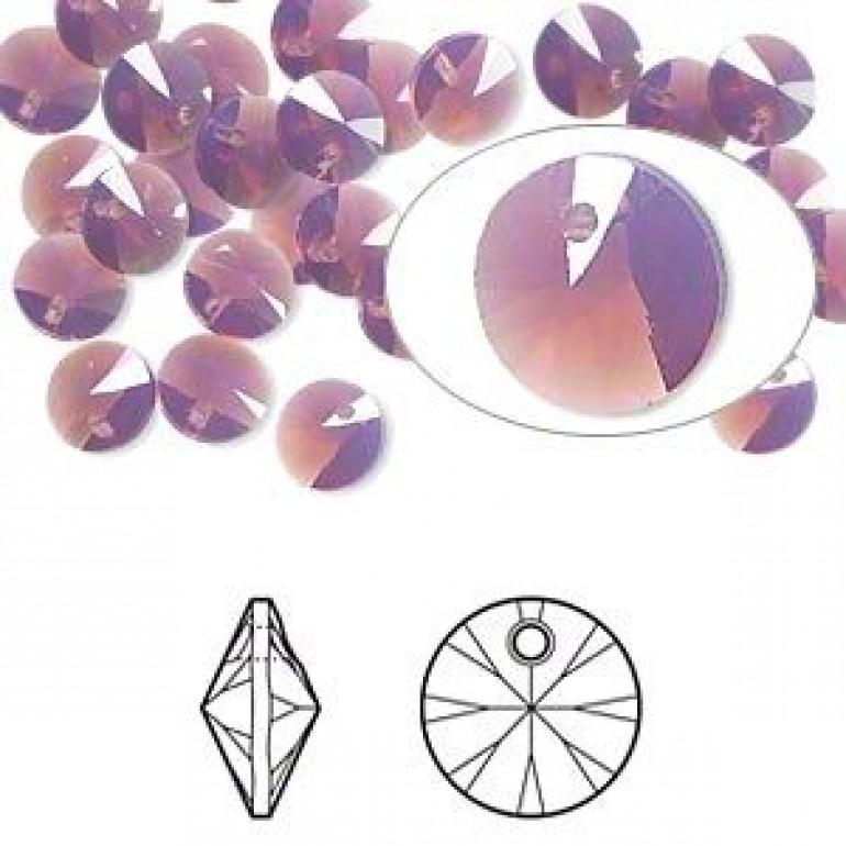 Swarovski Rivoli Pendant Xilion, 8mm Cyclamen Opal, 2 stk-3