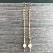 lange guld øreringe