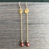 lange øreringe med guld kæde