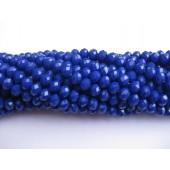 Facetslebne mørkeblå glasperler
