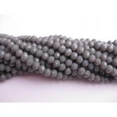 facetslebne glasperler grå
