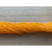 klare orange facetslebne glasperler