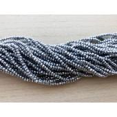 facetslebne sølv perler