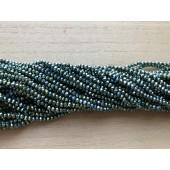 metallic grønne glasperler