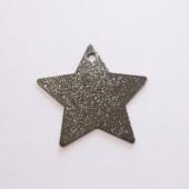 10 stk stjerne vedhæng, gunmetal-20