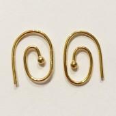 Guldbelagte spiral øreringe