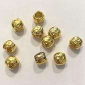 guld perler med stort hul