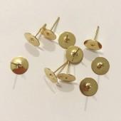 Guld ørestikker med plade